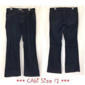 CAbi Jeans 12 203R Boot Dark Stretch Denim 34x31